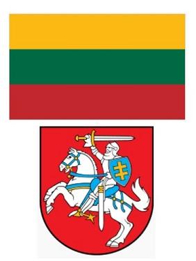 Bandiera e Stemma della Lituania.