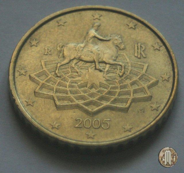 Immagine di una moneta da 50 centesimi di euro 2005 roma for Moneta 50 centesimi