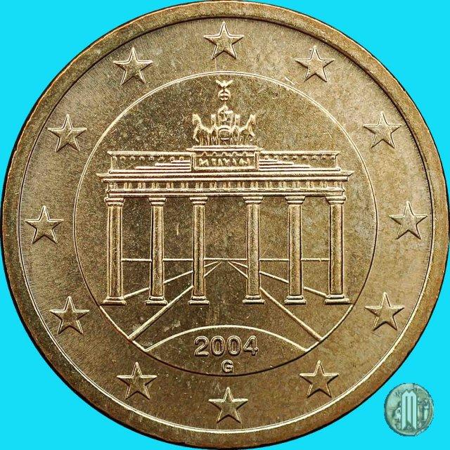 Immagine di una moneta da 50 centesimi di euro 2004 for Moneta 50 centesimi
