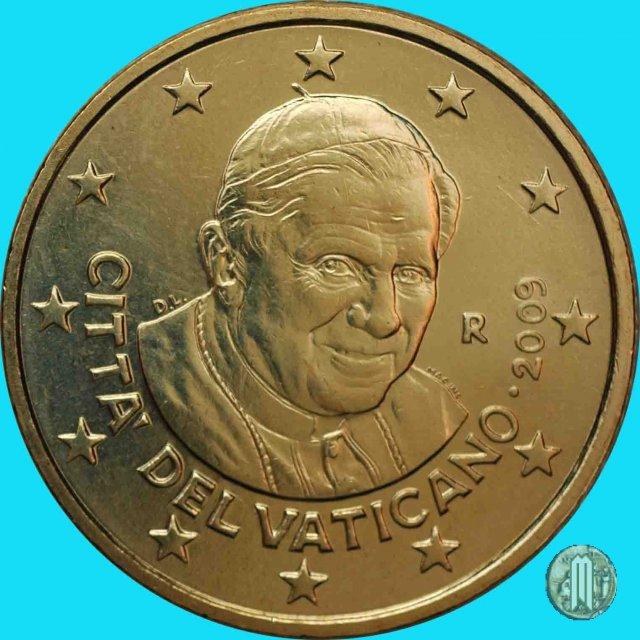 Immagine di una moneta da 50 centesimi di euro 2009 roma for Moneta 50 centesimi