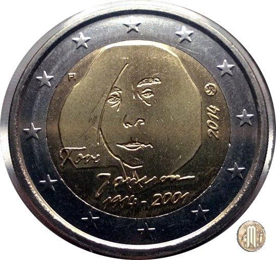 2 Euro 2014 centenario della nascita di Tove Jansson 2014 (Vantaa)
