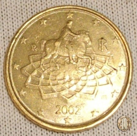Immagine di una moneta da 50 centesimi di euro 2002 roma for Moneta 50 centesimi