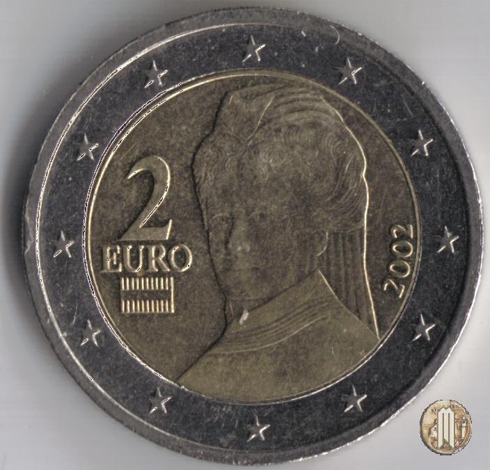 2 Euro 2002 Valore Una Moneta da 2 Euro 2002