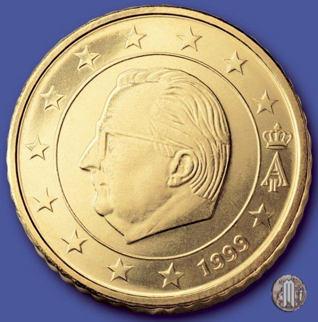 immagine di una moneta da 50 centesimi di euro 1999