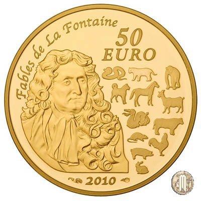 50 Euro 2010 Favole di La Fontaine - Anno della tigre 2010 (Parigi)