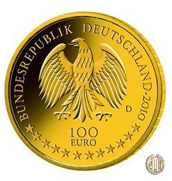 100 Euro 2010 UNESCO-Patrimonio Mondiale della Cultura - Residenza e Giardino di Würzburg 2010 (Amburgo:Berlino:Karlsruhe:Monaco:Stoccarda)