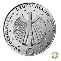 10 Euro 2005 Mondiali di Calcio del 2006 in Germania - 3ª Emissione 2005 (Amburgo:Berlino:Karlsruhe:Monaco:Stoccarda)