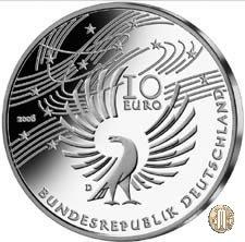 10 euro 2006 250° Anniversario della Nascita di Wolfgang Amadeus Mozart 2006 (Monaco)