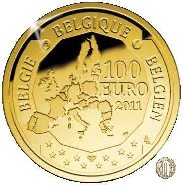 100 Euro 2011 150° ann. dalla nascita di Victor Horta 2011 (Bruxelles)