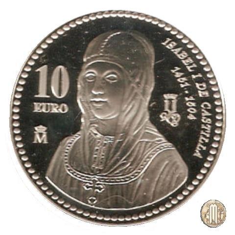 10 Euro 2004 V Centenario di Isabella I di Castiglia 2004 (Madrid)