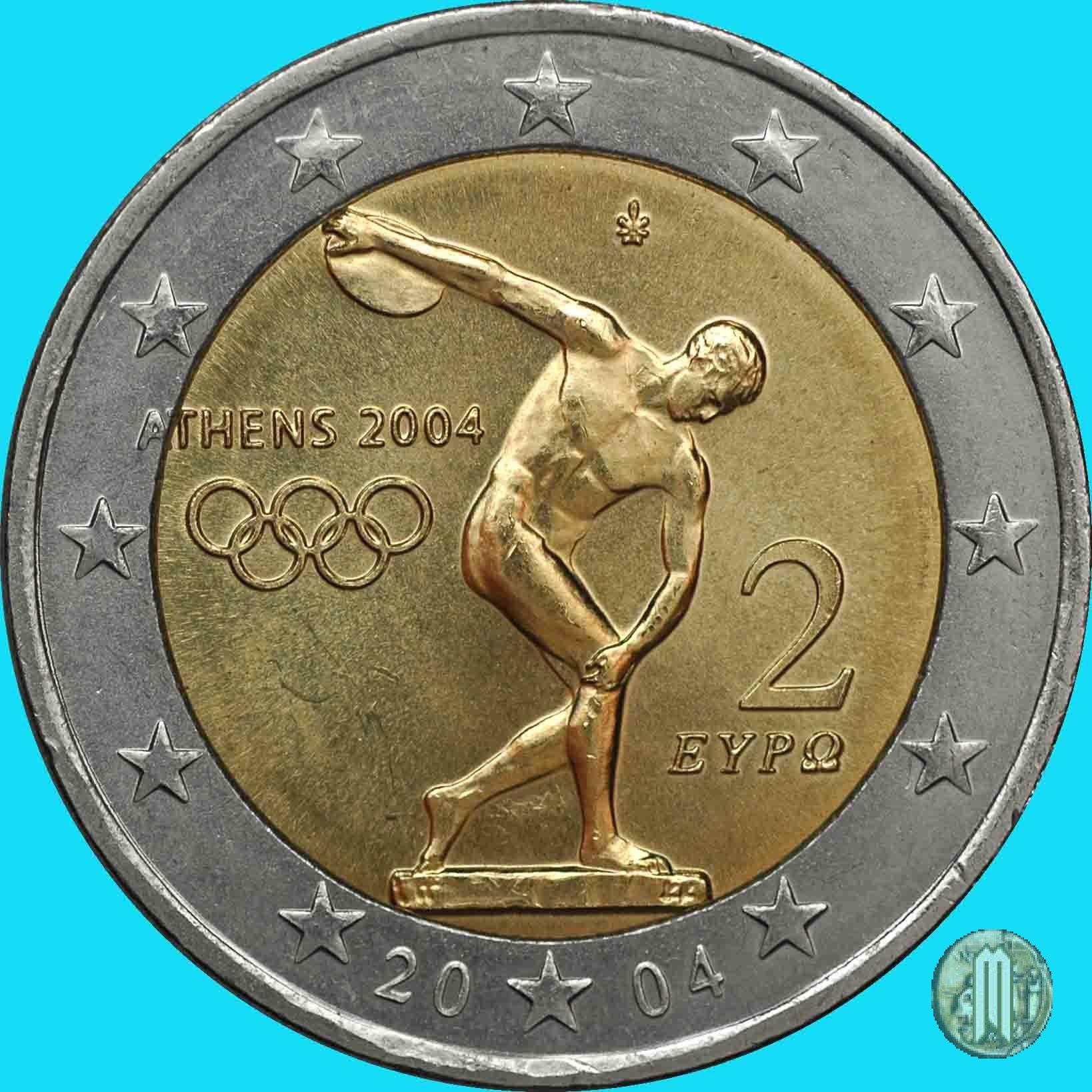 2 Euro Grecia 2002 Valore Grecia 2 Euro 2004 Giochi